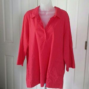 Eileen Fisher tunic XL coral tunic